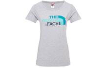 The North Face Women's S/S Easy Tee heather grey/kodiak blue